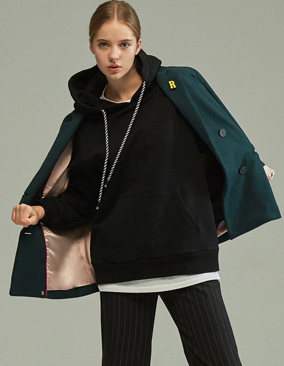 雙排釦R字別針百搭西裝外套