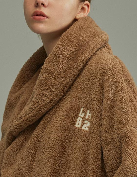 大翻領綁帶浴袍
