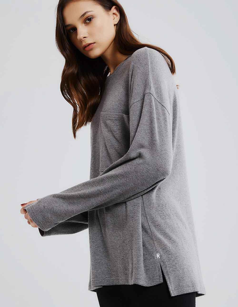 大口袋羊毛舒適寬鬆T