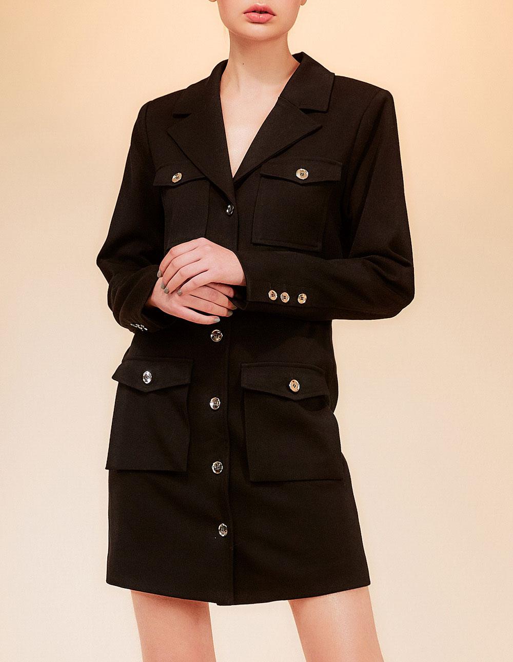 洋裝式長版西裝外套