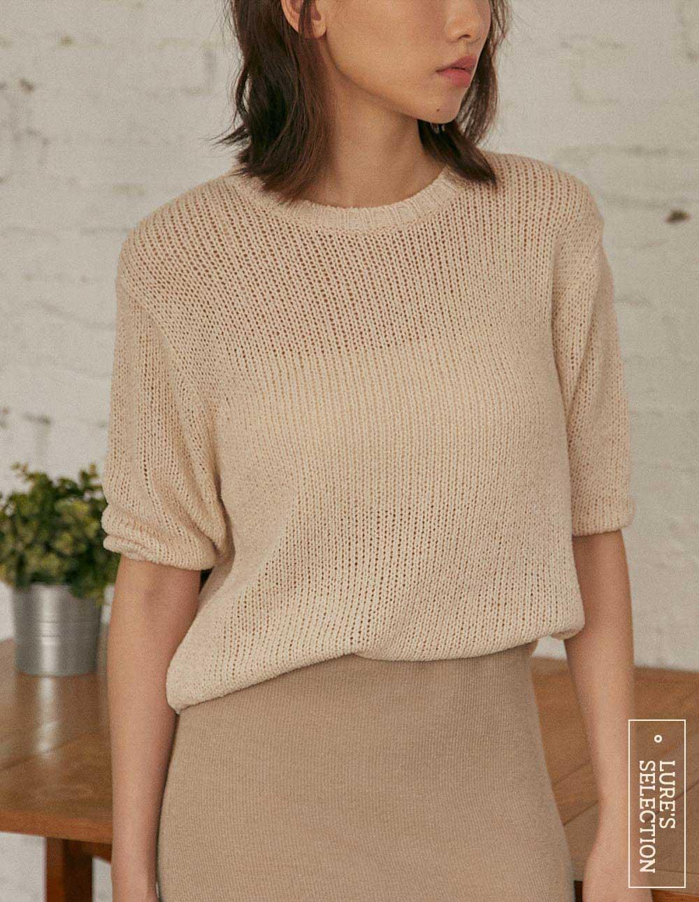選品系列:透視感短袖針織上衣