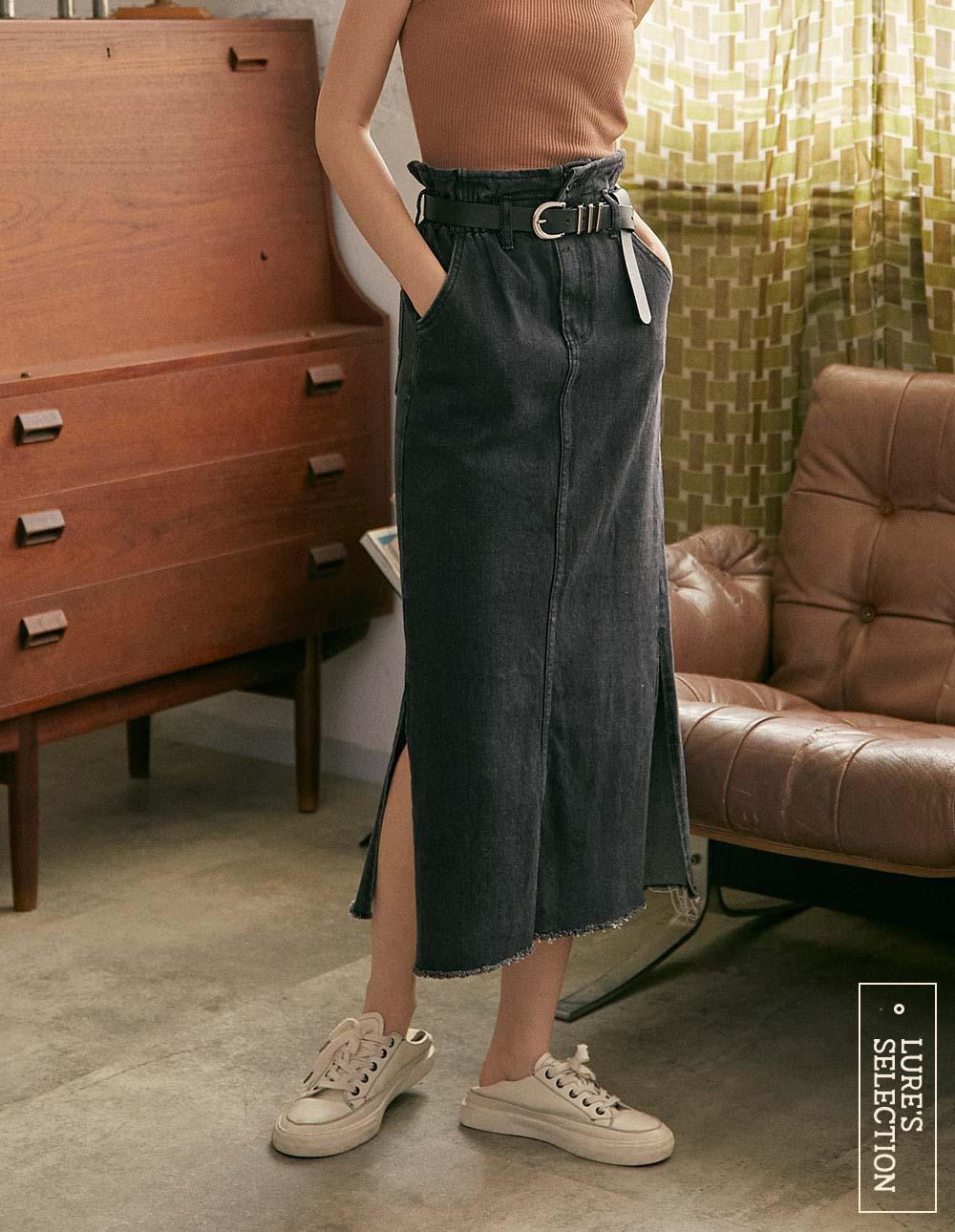 選品系列:高腰花苞窄裙