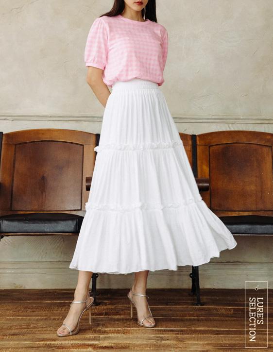 選品系列:腰鬆緊棉麻長裙