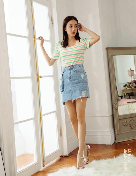 選品系列:立體口袋牛仔短裙