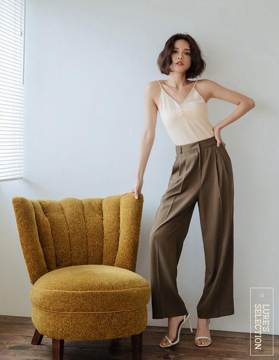 選品系列:涼感打褶西裝褲