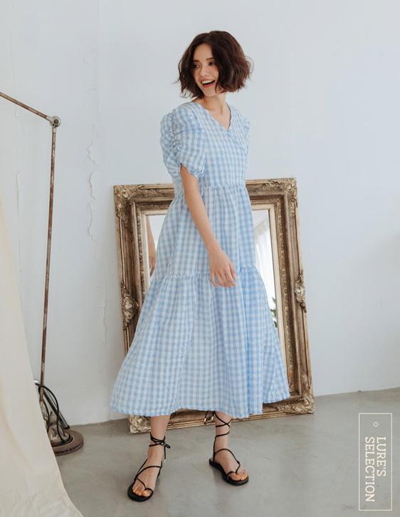 選品系列:方格交襟洋裝