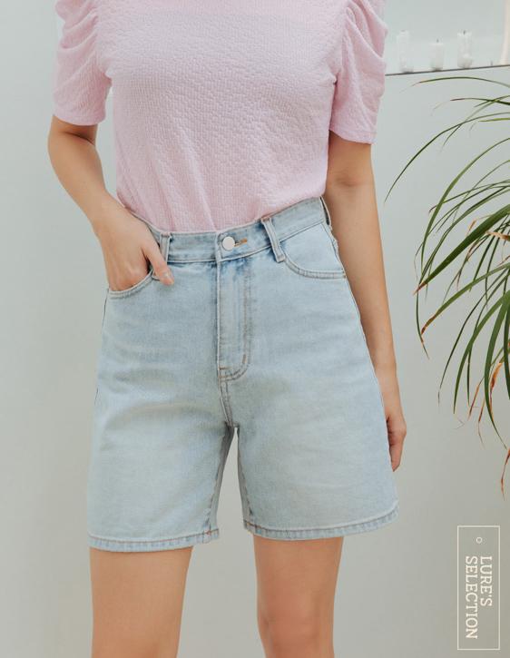 選品系列:寬鬆刷色牛仔短褲
