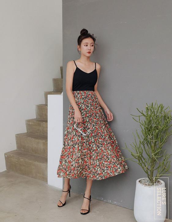 選品系列:花版壓褶裙