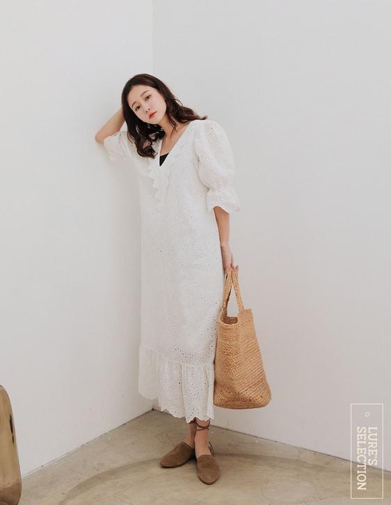 選品系列:刺繡長洋裝