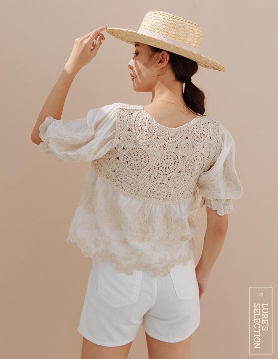 選品系列:刺繡鏤空上衣
