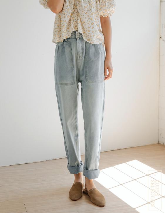 選品系列:大口袋刷色牛仔褲