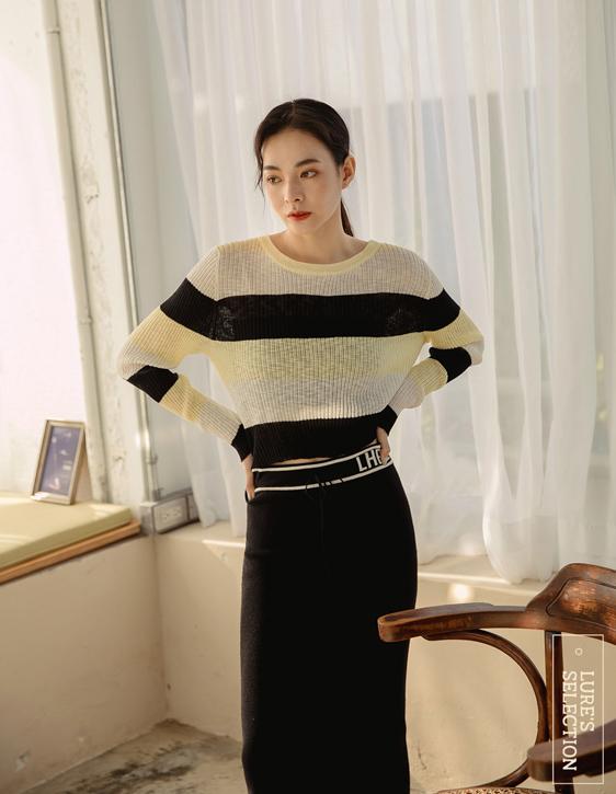 選品系列:橫條紋針織上衣