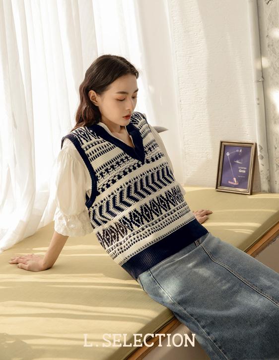 選品系列:圖騰針織背心
