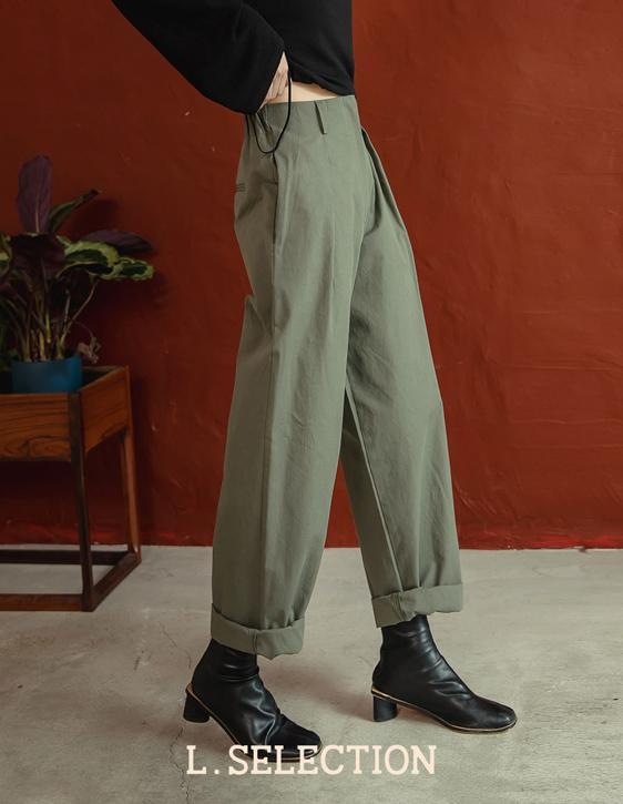 選品系列:後鬆緊斜紋長褲
