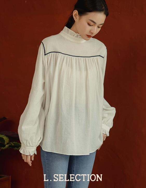 選品系列:領荷葉寬版襯衫