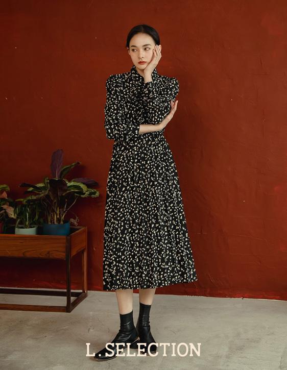 選品系列:印花百褶洋裝