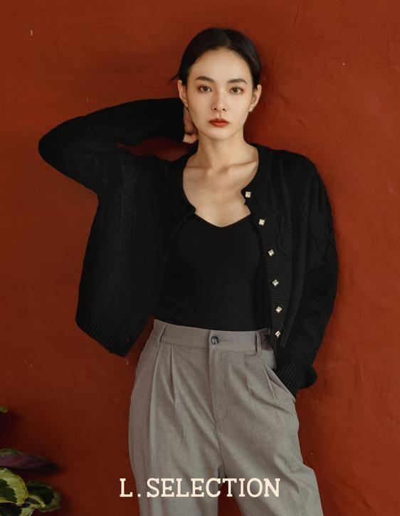 選品系列:鑽釦針織外套