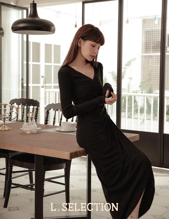 選品系列:交襟側綁帶洋裝