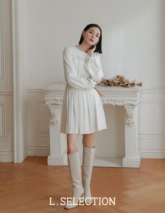 選品系列:胸前打褶設計洋裝