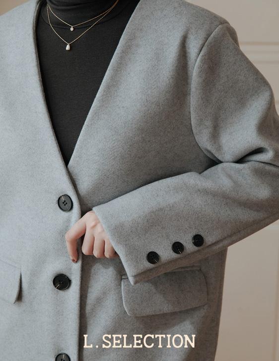 選品系列:V領大衣外套