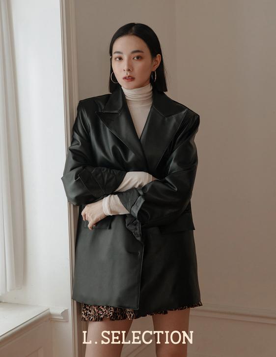 選品系列:寬鬆版皮衣外套