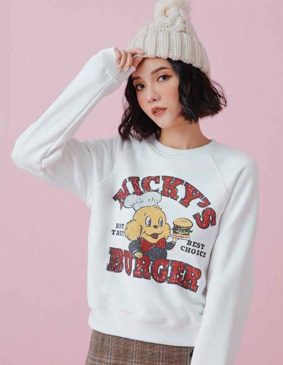 NICKY'S BURGER圓領衛衣
