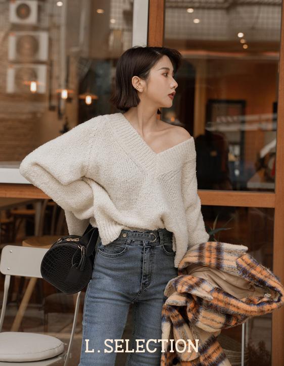選品系列:V領糖果針織毛衣