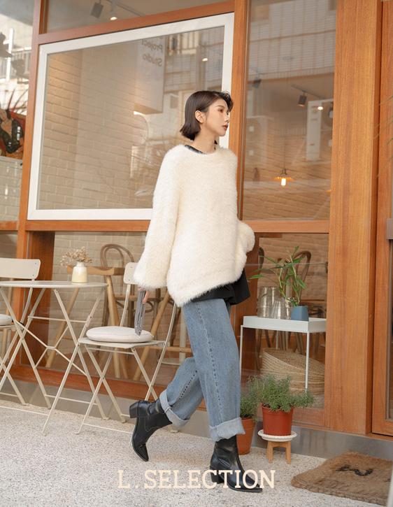 選品系列:柔軟毛毛寬鬆上衣