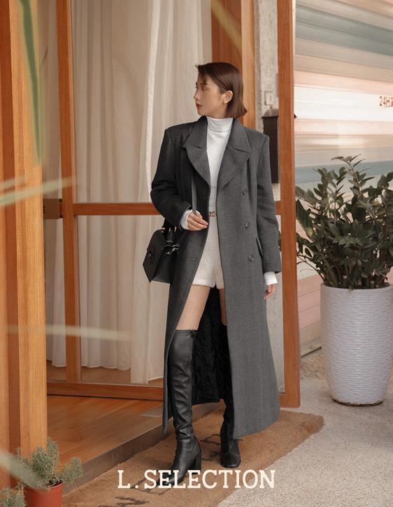 選品系列:雙排釦微收腰大衣