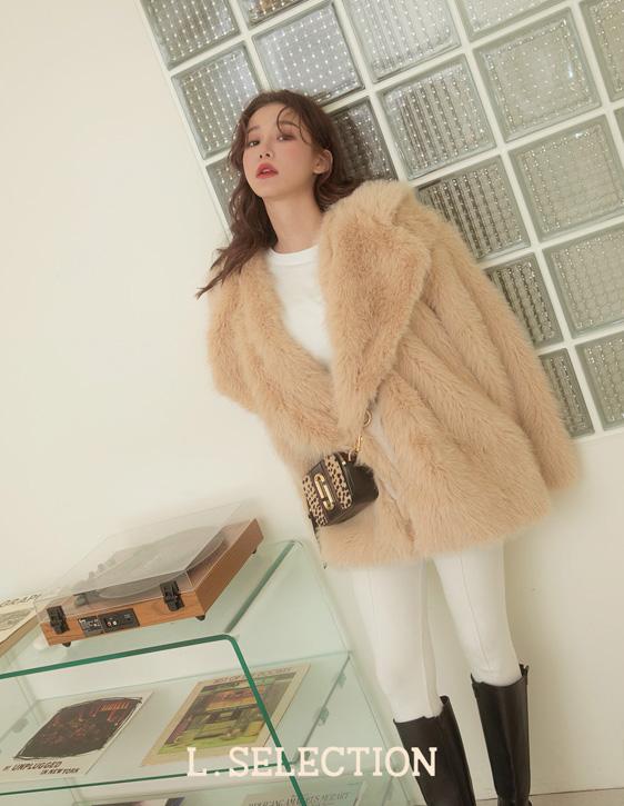 選品系列:西裝領毛毛外套