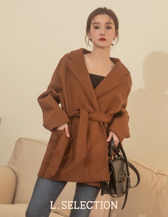 選品系列:腰綁帶大衣外套