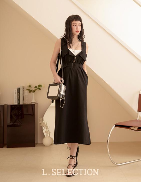 選品系列:工裝吊帶長裙