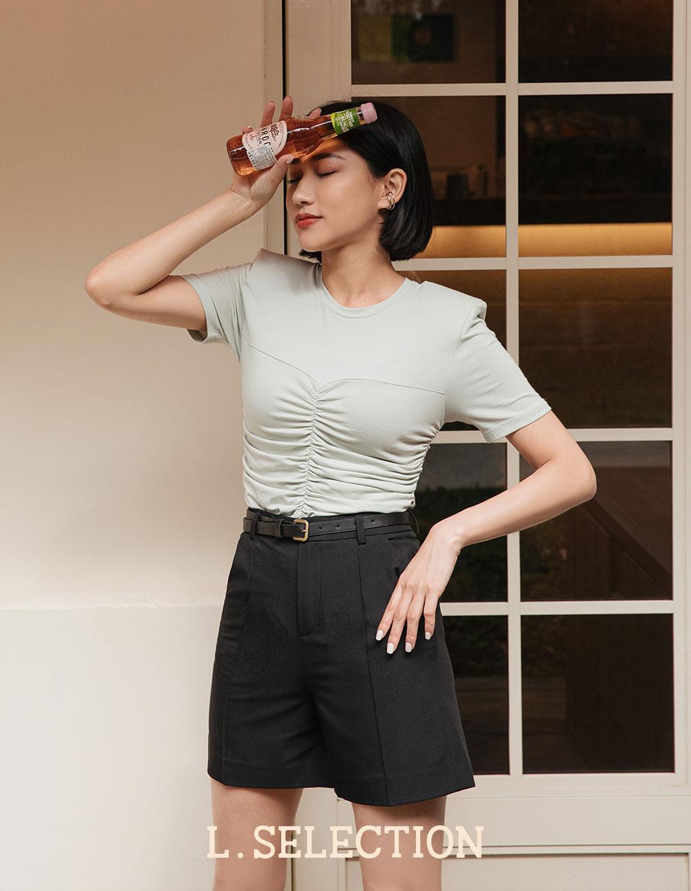 選品系列:立體褶線五分褲