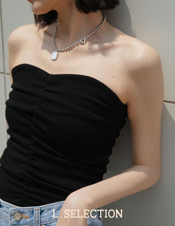 選品系列:胸前抓皺平口背心