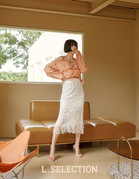 選品系列:下襬流蘇蕾絲裙
