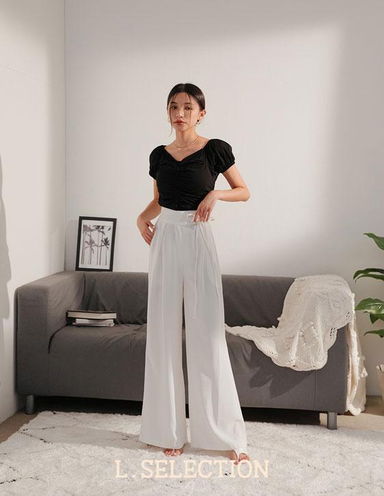 選品系列:腰間綁帶長褲