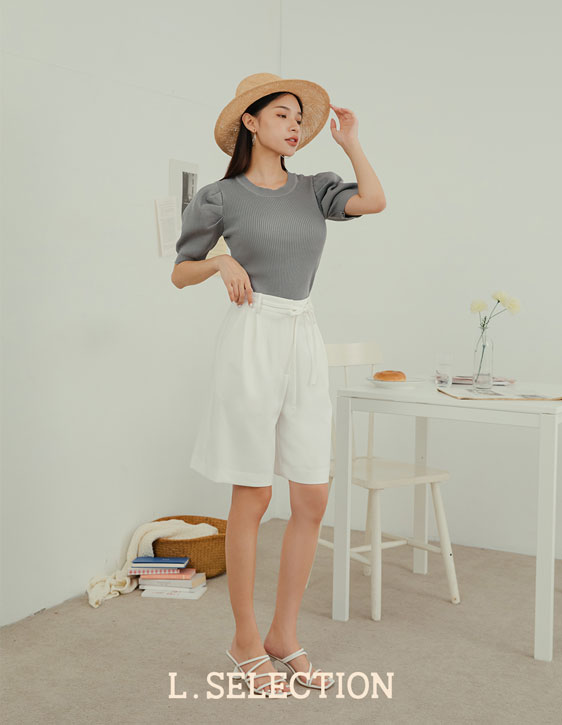 選品系列:綁帶西裝短褲