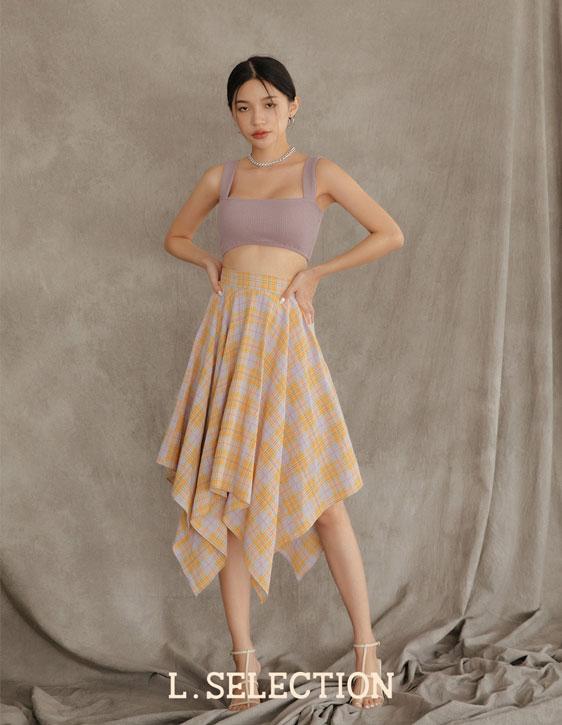 選品系列:格紋不規則長裙
