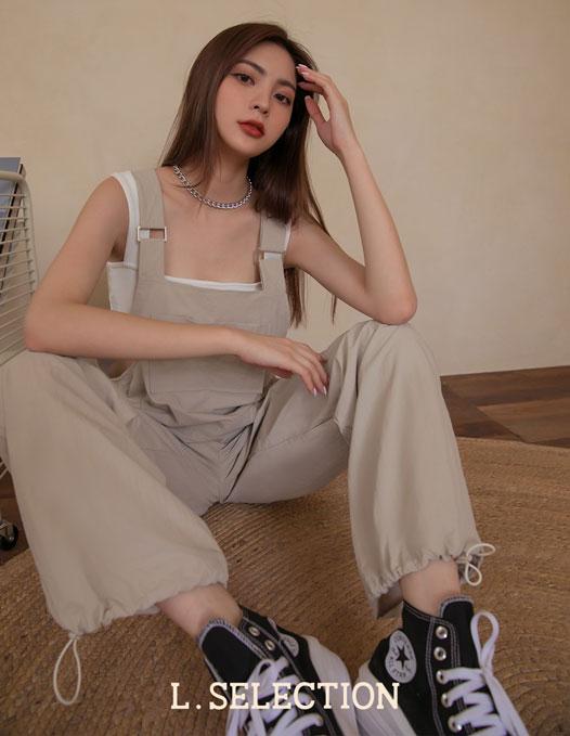 選品系列:前口袋寬鬆吊帶褲