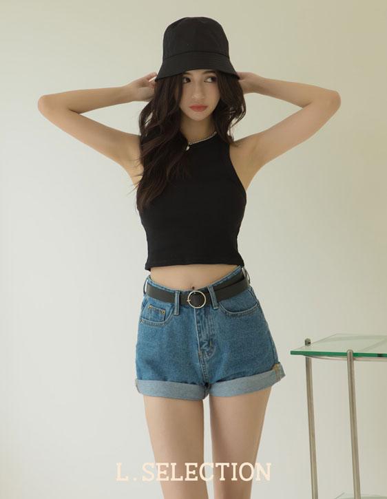 選品系列:褲口捲邊牛仔短褲