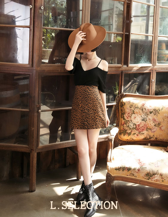 選品系列:豹紋A字裙