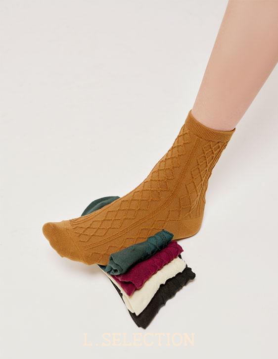 選品系列:五色針織襪
