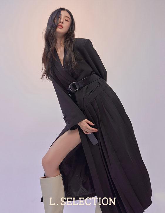 選品系列:百褶長版西裝外套