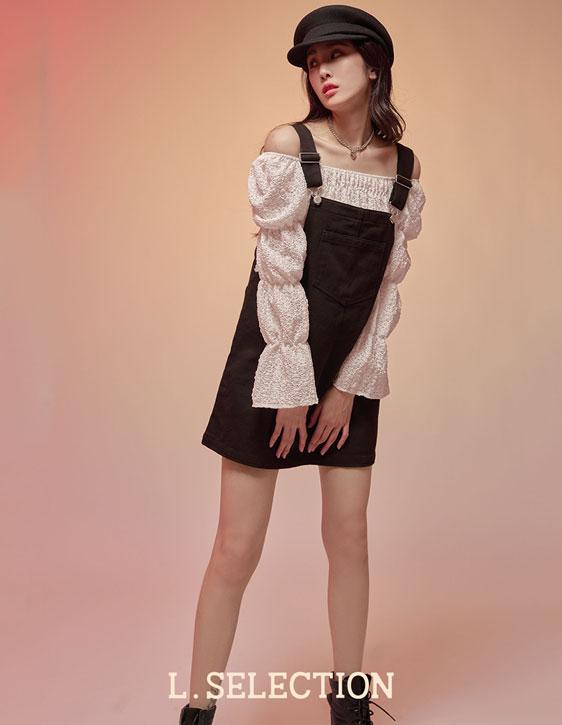 選品系列:前口袋吊帶裙