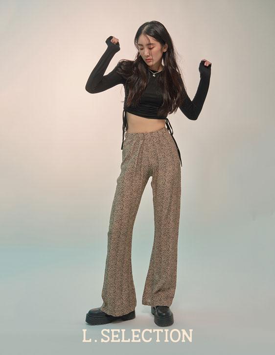 選品系列:豹紋鬆緊長褲