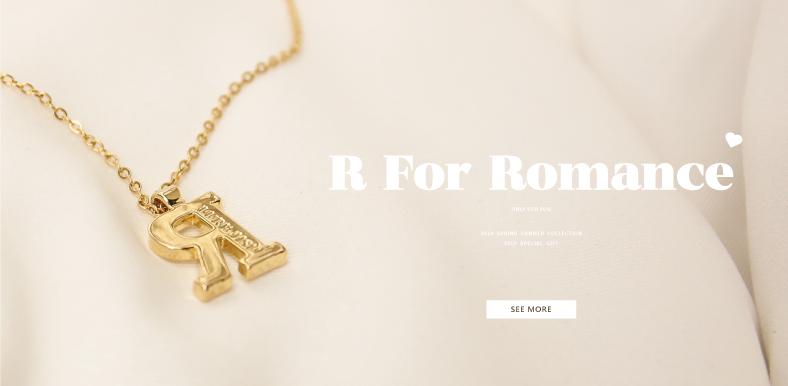 浪漫七月 │ 滿額贈「R字質感金色項鍊」