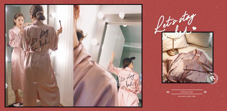 十月限定|滿額加購「質感緞面浴袍」